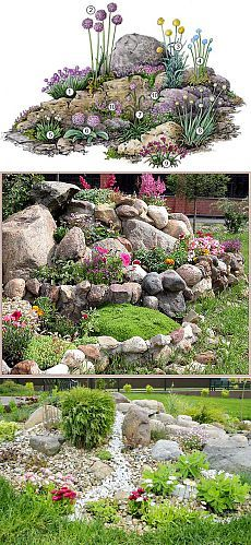 How To Use Succulent Landscape Design For Your Home Rockery Garden, Succulents Garden, Succulent Rock Garden, Garden Shade, Garden Bed, Garden Paths, Landscaping With Rocks, Front Yard Landscaping, Small Gardens