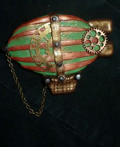 Steampunk Blimp Pin  S011 by artsdaughter on Etsy, $10.00