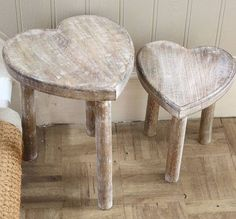 country heart stools
