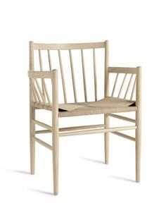 Natural Oak Dining Chair with Armrest (Front) | Consort