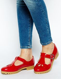 ASOS red mary janes
