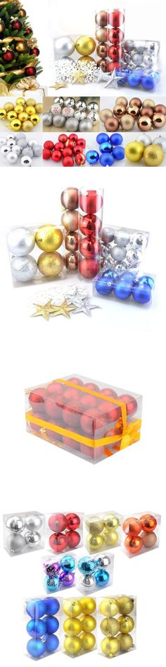 Christmas Decorations: 24/12/6 Glitter Christmas Balls Baubles Xmas Tree Ornament Christmas Decoration -> BUY IT NOW ONLY: $1.99 on eBay!