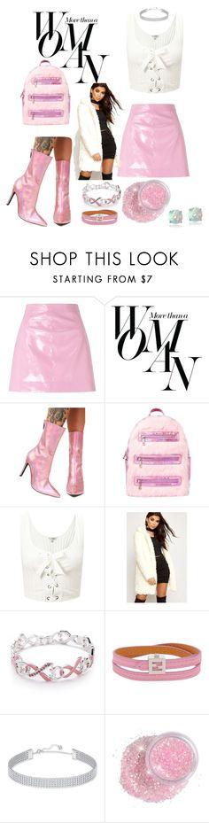 """Untitled #132"" by sjpj ❤ liked on Polyvore featuring Miss Selfridge, Sarah Jessica Parker, Current Mood, Sugar Thrillz, WearAll, Napier, Fendi, Swarovski, Glitzy Rocks and Pink"