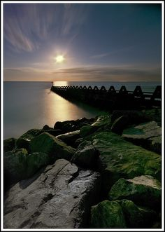 Seaward Moon - The Naze Walton by Christian Davies, via Flickr