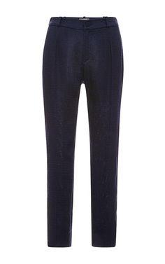 Shop Cropped Woven Pants by Bouchra Jarrar Now Available on Moda Operandi