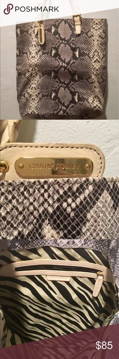 Cynthia Rowley Snakeskin Purse Brand new, never used! Has minor imperfections on the straps. Cynthia Rowley Bags Totes