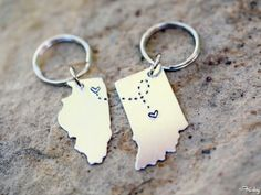 BFF's For Life:  Even though you have moved apart, best friends are for life. This simple personalized reminder is a beautiful update to the traditional broken hearts.