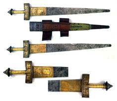 Wide blade takouba swords from Northern Nigeria