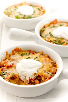 Vegetable Tamale Pies- cornmeal or polenta, pinto beans, frozen corn, canned diced tomatoes, salsa, cumin, cayenne, oregano, salt, cilantro, Greek yogurt (or sour cream), shredded cheese.