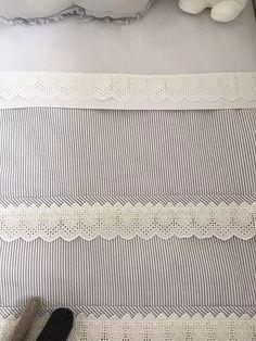 tutorial para hacer una sábana para la cuna de bebé