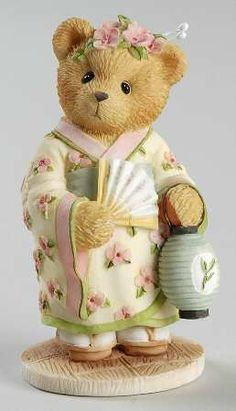 Cherished Teddies -Machiko- my hubby just surprised me with a whole BOX of cherished teddies!  This one is my favourite, a wee Japanese bear!