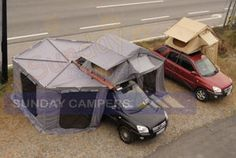Camping Discover [Hot Item] Roof Top Tent with Foxwing Awning This site would be your best choice when sourcing from China. Their buyer service is professional and it offers third party transaction service to protect your money Tenda Camping, Camping Glamping, Outdoor Camping, Camping Cabins, Luxury Camping, Camping Survival, Camping Gear, Camping Hacks, Camping Storage