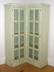 Cottage Corner Bookcase available @ CoachBarn.com in Tinsel finish. #coachbarn #furniture