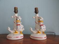 Vintage Donald Duck Lamps  Disney Lamps  by RenaissanceManCle, $150.00