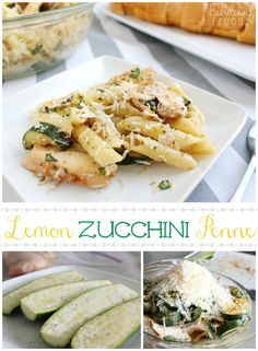 Light, fresh lemon-zucchini pasta recipe! This is a great pasta dish, especially during the summer when zucchini is in season.