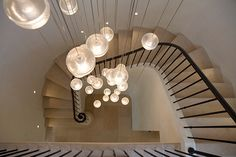 French country inspired farmhouse in California: Stone Maison - The steel railing on the staircase is crimped with musical notes from a Satie composition. Stair Lighting, Interior Lighting, Interior Styling, Lighting Ideas, Minimalist Window, Steel Frame House, Steel Railing, French Country House, Country Houses