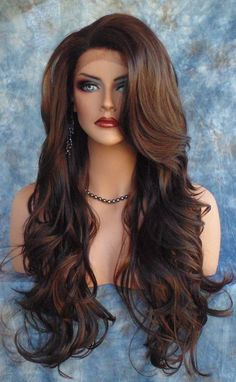 Buy Fancy Long Wavy Curly Hair Women Cospaly Costume Wigs Hair at Cute - Beauty Shopping Dyed Curly Hair, Curly Wigs, Long Curly Hair, Curly Hair Styles, Hair Wigs, Wavy Hair, Long Side Bangs, Corte Y Color, Wigs Online