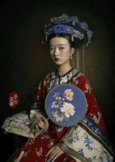"changan-moon: "" Qing dynasty fashion by 叁木映画ForestStudio "" You can find. Oriental Fashion, Ethnic Fashion, Asian Fashion, Fashion Photo, Womens Fashion, Ladies Fashion, Oriental Style, Traditional Fashion, Traditional Dresses"