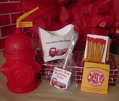 fire station birthday party favors