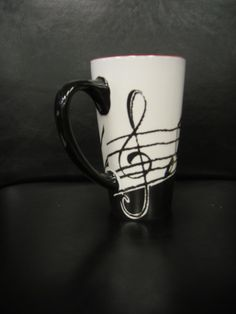 tall music scale ceramic mug