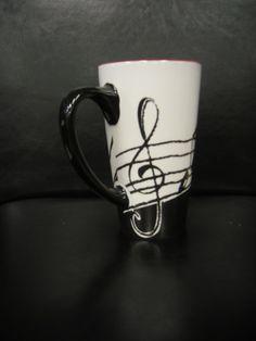 tall music scale ceramic mug