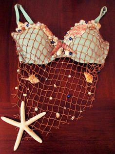 Mermaid Shell Bra // Customized Rave Bra // For by GlitzByMaris