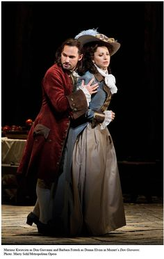Mariusz Kwiecien as Don Giovanni and Barbara Frittoli as Donna Elvira in the Metropolitan Opera's Don Giovanni | Marty Sohl