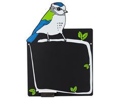 Blue Tit Screen Printed Chalkboard by Boodle Chalkboard Stencils, Hanging Chalkboard, Chalkboard Designs, Framed Chalkboard, Arrow Signage, Door Signage, Wooden Easel, Wooden Crates, Bristol Shopping