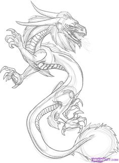 How to Draw a Dragon Tattoo, Step by Step, Tattoos, Pop Culture, FREE Online Drawing Tutorial, Added by Dawn, October 25, 2008, 4:27:32 pm