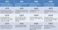 prayers by personality type