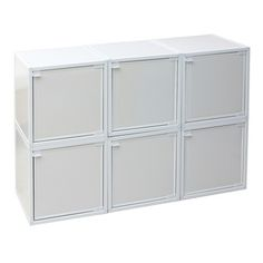 Modular Box White Set Of 6, $105, now featured on Fab.  Sub for Dining Room Buffet/Credenza?