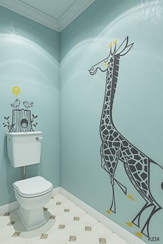 Ideas For Bathroom Wallpaper Kids Wallpapers Bathroom Kids, Bathroom Wall Decor, Small Bathroom, Bathrooms, Kids Wallpaper, Bathroom Wallpaper, Organize Bathroom Countertop, Wc Design, Home Library Rooms