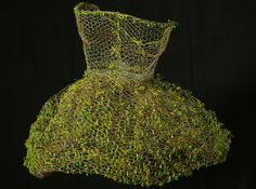 """Adrienne Jalbert ~ """"Twinkle Toes"""" sculpture tutu in varnished wire and crystals attached by fine gilded wire via adriennejalbert.com"""