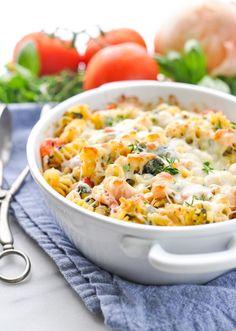 Dump-and-Bake Chicken Caesar Pasta - My Recipe Magic