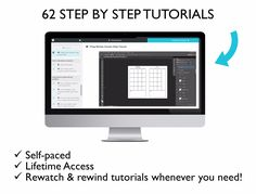 Step by step video tutorials so you can design a planner that suits YOUR planning needs!