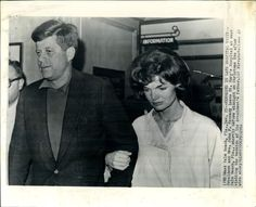 Somber couple leave Palm Beach hospital after Joe Kennedy's stroke-December 1961.