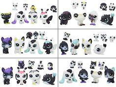 #transformer littlest pet shop black & white friends wave 1 set of 6