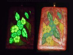 EyeGloArts Millefiori  Glow in the Dark Floral Art by EyeGloArts, $45.00