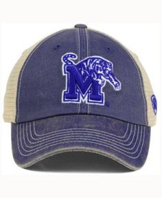 Top of the World Memphis Tigers Wicker Mesh Cap - Blue Adjustable