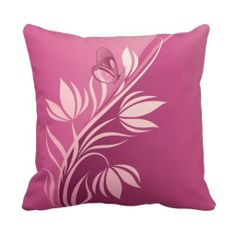 Shop Floral Fashion 2 Pillow created by Ronspassionfordesign. Sewing Pillows, Diy Pillows, Linen Pillows, Custom Pillows, Throw Pillows, Arte Ganesha, Watercolor Flowers Tutorial, Fabric Paint Designs, Felt Pillow