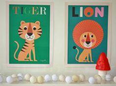 Ingela Arrhenius poster & print Lion for kids