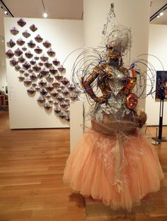 ARIMAS is made with clay, swarovski crystals, chain, lace, beads, mirrored glass, tool, ribbon, feathers, wire, acrylic, oil paint, etc.    Sculpture measures approximately 7.5 feet in height.    Photos are taken from my art studio.    http://arimasjewelrybox.bigcartel.com/product/1    #art #sculpture #painting #largesculpture #beauty #woman #women #chains #bride #wedding #LADYGAGA #india  http://arimasjewelrybox.bigcartel.com/product/1