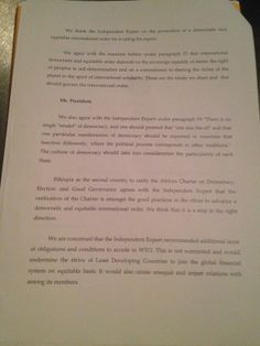 Statement by about my report to the United Nations ( Human Rights Council - Page 2 United Nations Human Rights, Human Rights Council, Ethiopia, This Or That Questions