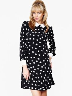 Very Star Print Contrast Tunic