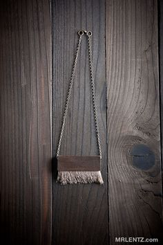 Natural Wood and Elk Hair Necklace
