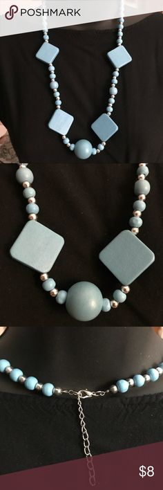 """Fashion Necklace Fashion Necklace made of man made material, blue in color, unique look, 22"""" in length. Great condition. Bundle and save on all jewelry. Jewelry Necklaces"""