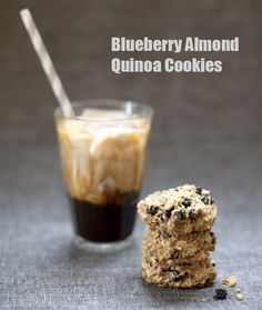 Pinecone Camp: Baked Blueberry Almond Quinoa Cookies