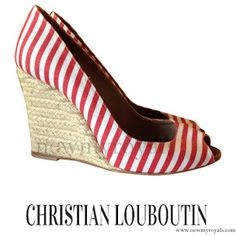 Christian Louboutin Cloth Sandals - Crown Princess Mary style
