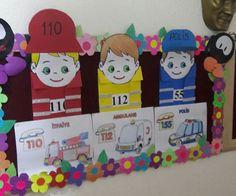 Acil numaralar Community Helpers Crafts, Community Art, Special Education, Art Education, Games For Kids, Art For Kids, Class Rules Poster, Nursery Rhymes Preschool, People Who Help Us