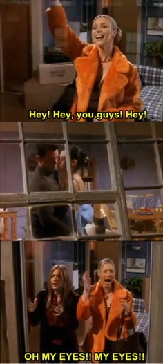 one of my favorite sections of episodes when chandler and monica are hiding their relationship!